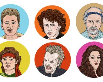 All the Damn Vampires Lost Boys Button Set