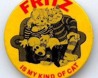 Original 1972 Robert Crumb Fritz The Cat Promo Pin