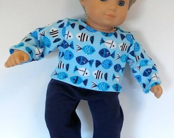 15 inch Doll Clothes; Knit PJ's fit American Girl Bitty Twins