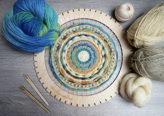 Weave Kit - Large Lap Loom - Circular Loom Kit - Weave Loom - DIY Weaving Kit - Large Weave Loom - Weave Loom Kit - Woven Wall Art Kit from icandysupplies ... & Weave Kit - Large Lap Loom - Circular Loom Kit - Weave Loom - DIY ...