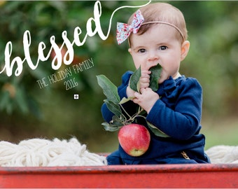 Blessed 5x7 Christmas Holiday Photo Card