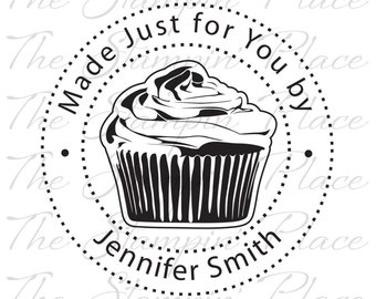 Personalized Custom Stamp - Cupcake Made Just for You by - PK223