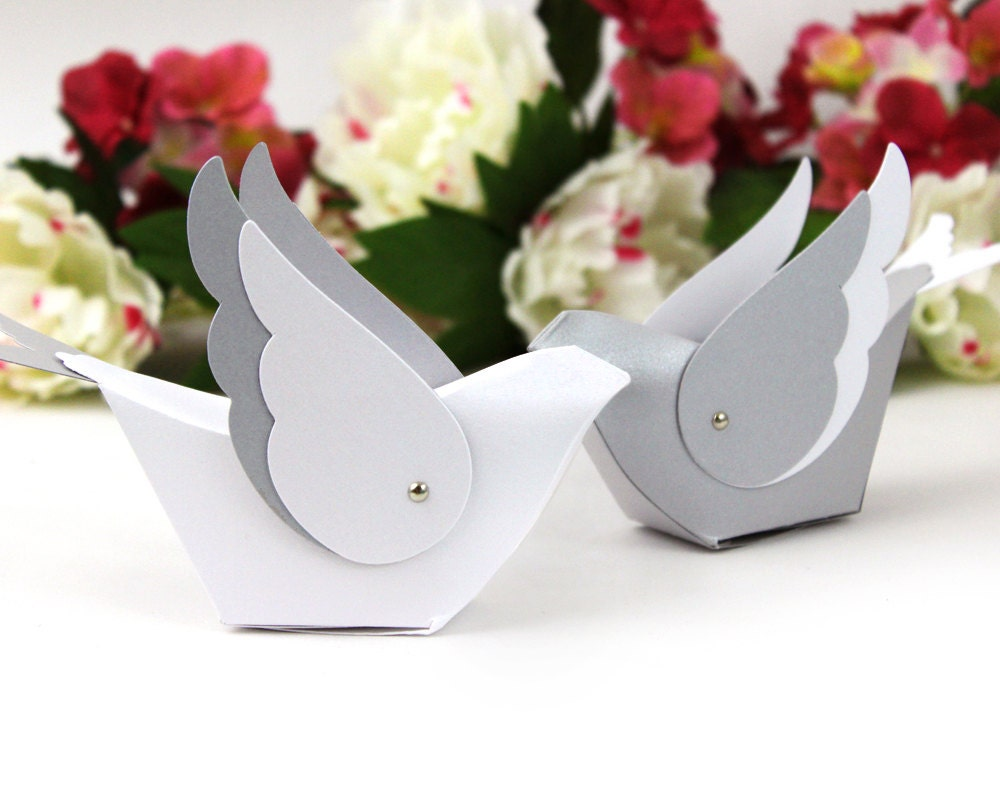 Bird table decoration unique wedding favor box centerpiece