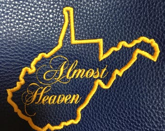 West Virginia embroidered Tote bag