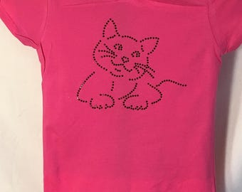 "Rhinestone Fat Cat ""Oliver"" T-Shirt"