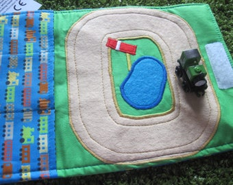 Train toy carrier roll mat