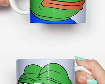 Funny Frog Cartoon Meme : Harry styles pepe sad frog meme funny mug gifts for him