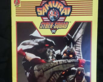 Vintage 1994 Superhuman SAMURAI SYBER Squad Coloring Activity book UNUSED