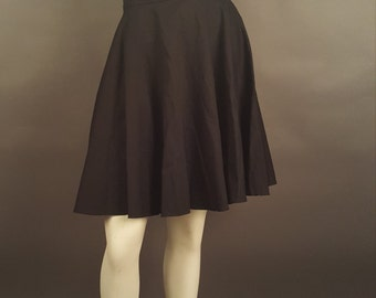 Black Flared Skirt