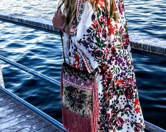 Boho Floral Long Kimono / cardigan