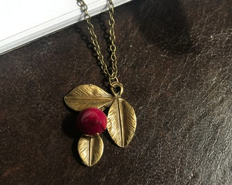 Real Rose Necklace, Real Flower Necklace, Rose Necklace, Real Flower Jewelry, Romantic Gift, Anniversary, Resin jewelry