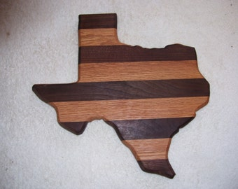 Texas state cutting board - made of oak and walnut