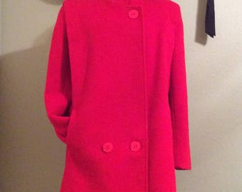 Vintage 80s Red Petite Women's Wool/Mohair Jacket
