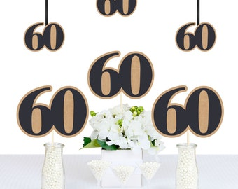 60th Milestone Birthday - Aged to Perfection - DIY Birthday Decorations Party Essentials - 20 Count
