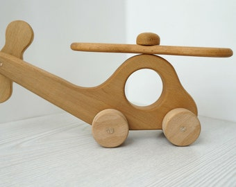 Wooden Helicopter, Handmade toy, Eco friendly, Organic toy, Wooden toys, Baby gift, Room decor,