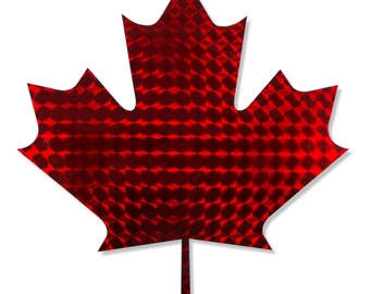 Red Holographic  Maple Leaf Decal/Maple Leaf Decal