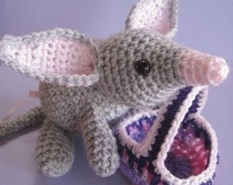Bilby and Bush Easter Basket - crochet pattern