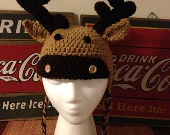 Crochet Moose Hat Pattern