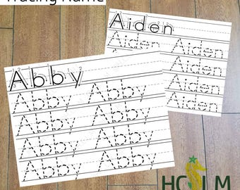 Kids Name Tracing Worksheet, Learning to Write, Children's Name Practice, Teachers Resources, Learning Activity, School Sheets