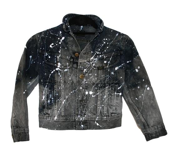 70's Vintage Jean Jacket Lee Jean Jacket L Tapered Back Heavy Duty Snap Closures Work Wear Boho Hippie rDuYjITMfi
