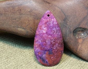 Purple and Red Crazy Lace Agate Druzy Teardrop