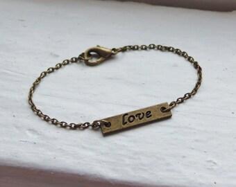 Love Bracelet. Stacking Bracelets. Layering Bracelets. Trendy Bracelets. Bestfriend Bracelet. Valentines Gift. Bridesmaid