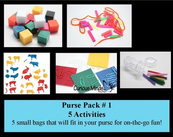 Purse Pack -  Small and Packable Busy Bags Sets