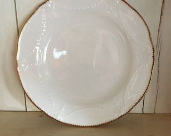 Salad Plates with Gold Edge - Set of Four
