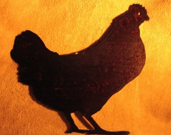 It's a Chicken-Metal Garden Art Wall Hanging- Suitable for Indoors or Outdoors