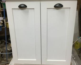 TWO DOOR UNIT Side By Side Recycle And Trash Bin Unit.
