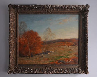 GEORGE M. BRUESTLE (American, 1872-1939) - Landscape Oil on Canvas (29.5 X 24.5)