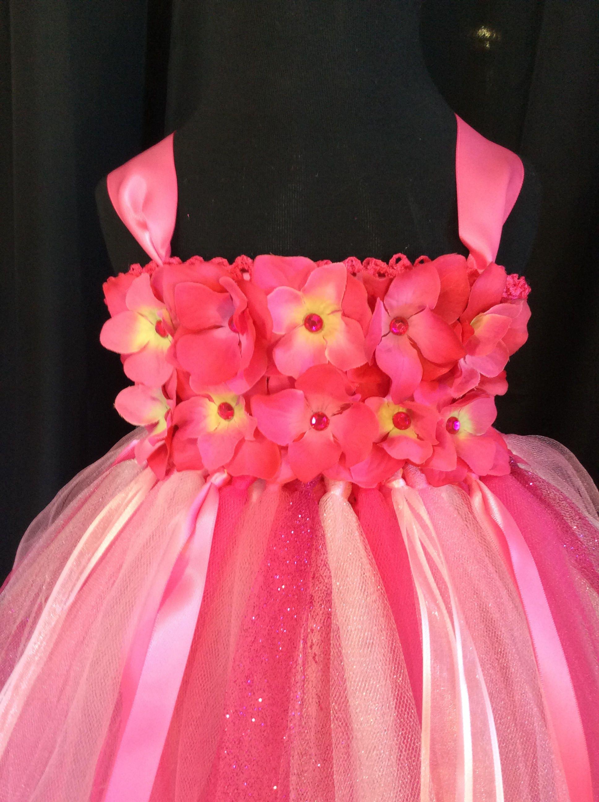 Bright pink flower girl dress tulle flower girl dress tutu dress pink flower girl dress gallery photo gallery photo gallery photo mightylinksfo Gallery