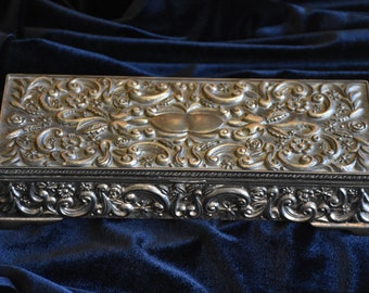 Godinger Antique Silver Jewelry Box with Floral Design