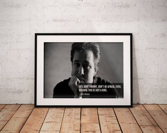 Bill Hicks, Quote poster, Typographic print, Inpirational Genius Quote, Sizes A4-A0