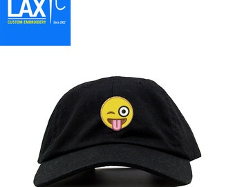 Tongue Sticking Out Emoji Adustable Dad Cap | Baseball Cap