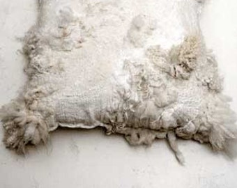 felted pillow 'sheepscape'