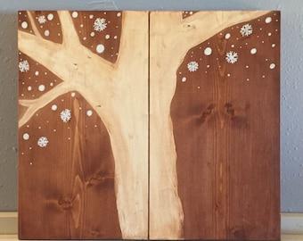 Tree and Snow Wall Art, Tree Wall Art, Wall Art