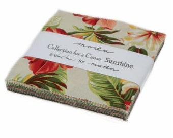 Collection for a Cause, Sunshine, Charm Pack by Howard Marcus for Moda