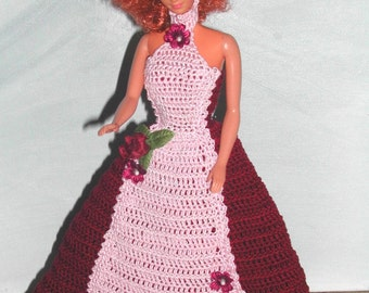 Crochet Fashion Doll Barbie Pattern- #691 Evening After Six #7