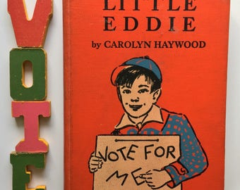 Little Eddie, Hardcover, Classic Collectible, Rare Title, Carolyn Haywood, 1956 5th Printing