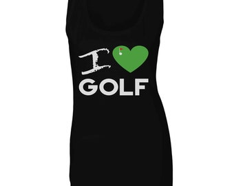 I love golf Ladies Tank Top cc959ft