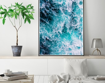50%OFF,  Sea Print, Sea Wall Art, Sea Poster ,Modern Beach Decor, Ocean Printable, Digital Download Instant Download