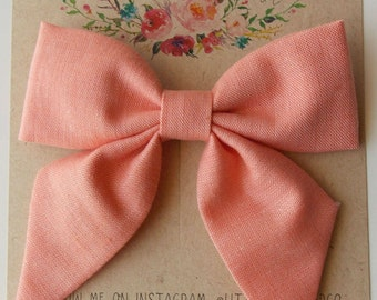 Eloise Sailor Bow in Coral