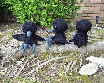 crochet raven or crow