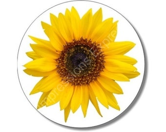 Sunflower Flower Round Mousepad
