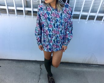 90's Floral Button Up Shirt