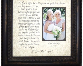 Mother of the Bride Gift, wedding frame, Parents Wedding Frame Sign, wedding guest book, wedding guestbook, wedding cake topper, 16x16