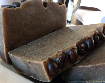 Coffeenation Street - coffee vanilla handmade soap natural plus beautiful postcard