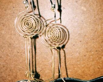 Custom swirly earrings