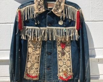 Vintage Levi's Type III Trucker Denim Jacket Sz. 38 #70505 0217